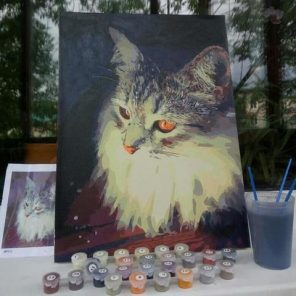 custom painting by numbers cats