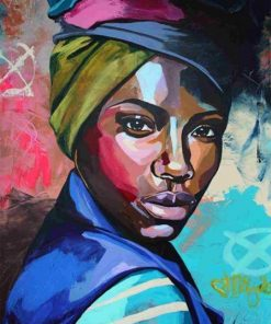 African Woman - DIY Paint By Numbers - Numeral Paint