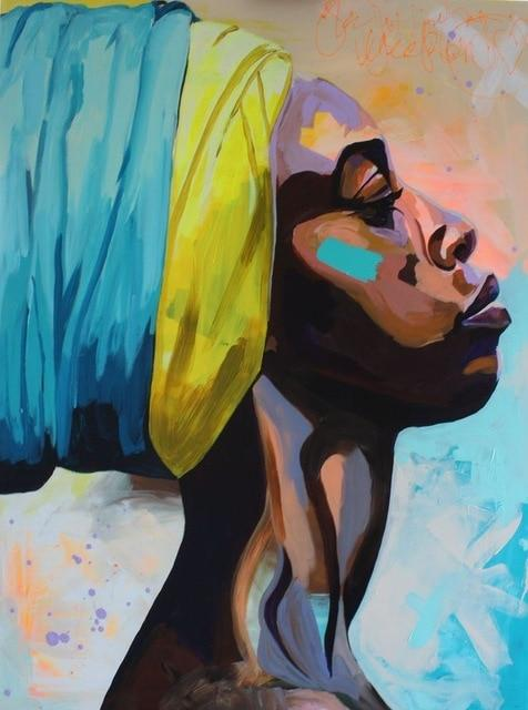 Black Woman paint by numbers