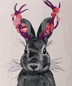 Black and White Rabbit paint by numbers