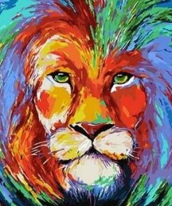 Colored Lion paint by numbers