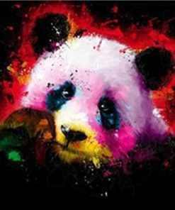 Colorful Panda paint by numbers