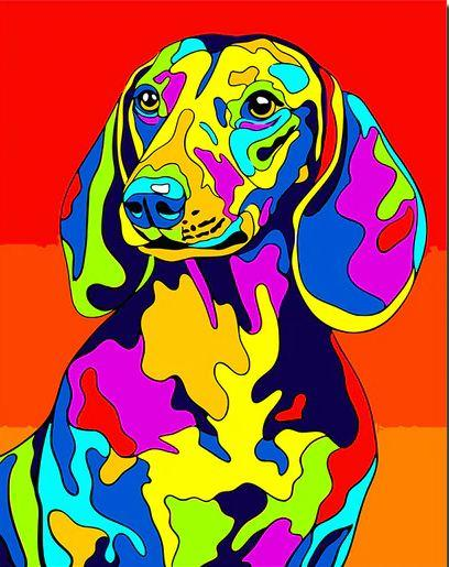 Colorful Dalmatian Dog - DIY Paint By Numbers - Numeral Paint