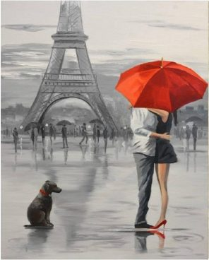 Couples In Paris paint by numbers