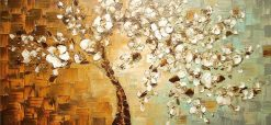Panel Hand Painted Thick Palette Knife Painting - DIY Paint By Numbers - Numeral Paint