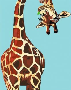 Funny Giraffe paint by numbers