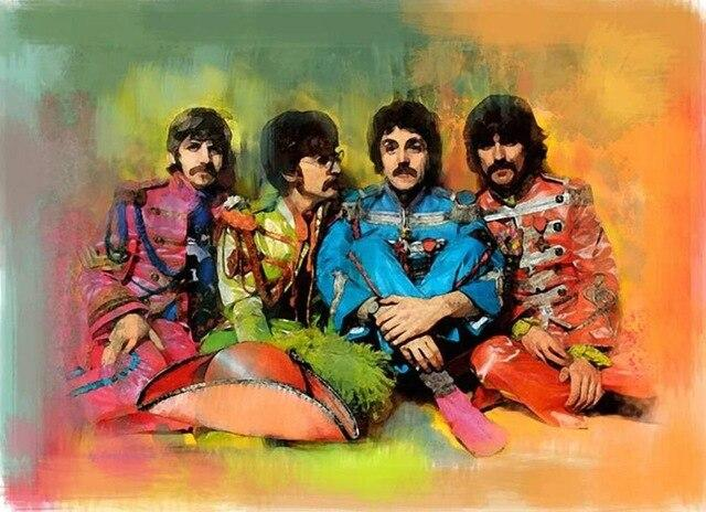 The Beatles On Stage Singing Painting Abstract Artwork Paint By Numbers Kit DIY