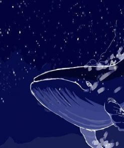 Galaxy Whale paint by numbers