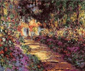 Garden Path at Giverny Claude Monet paint by numbers