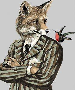 Gentleman Fox paint by numbers
