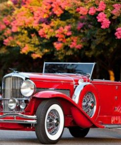 German antique car paint by numbers