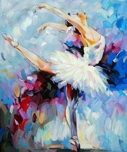 Girl Ballet Dancer paint by numbers