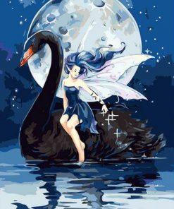 Girl Black Swan paint by numbers