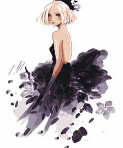 Girl Dressed In Black paint by numbers