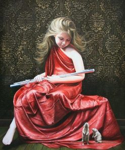 Girl Flute Player paint by numbers