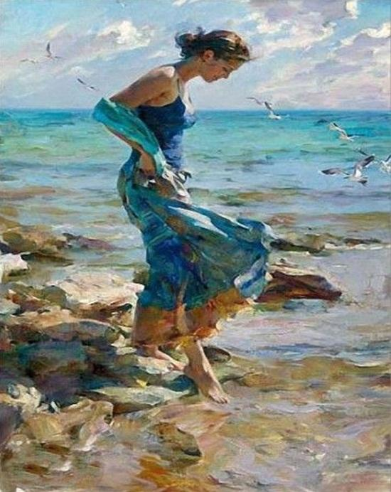 Girl In Sea paint by numbers