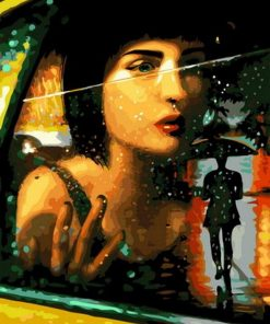 Girl In Taxi paint by numbers