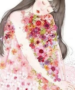 Girl On Flower paint by numbers