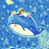 Girl With Whale paint by numbers