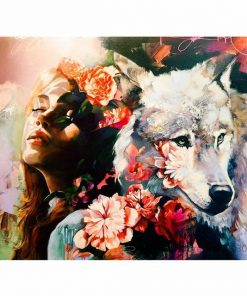 Girl and Wolf paint by numbers