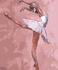 Girl in Ballet Lesson paint by numbers