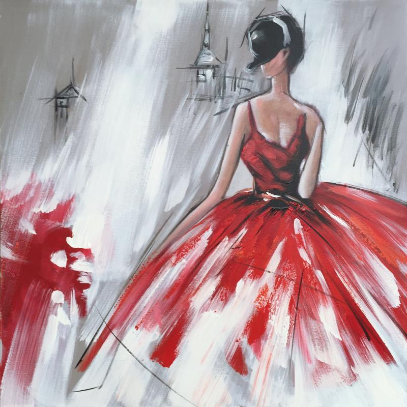 Girl in Red Dress paint by numbers