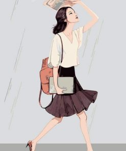 Girl in Road To University paint by numbers