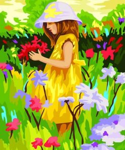 Girl in Yellow Dress paint by numbers