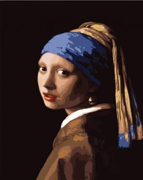 Girl with a Pearl Earring Johannes Vermeer paint by numbers