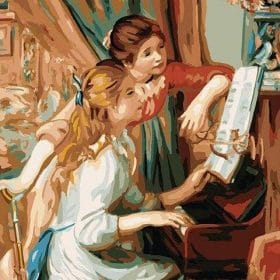 Girls At The Piano paint by numbers