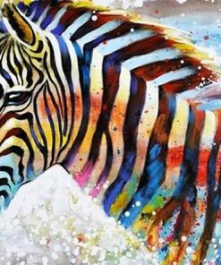 Glowing Zebra paint by numbers