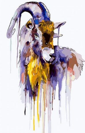 Goat paint by numbers