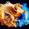 Golden Horse With Wings paint by numbers