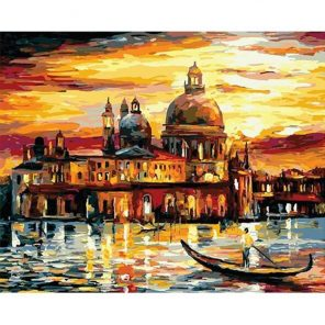 Golden Night Venice paint by numbers