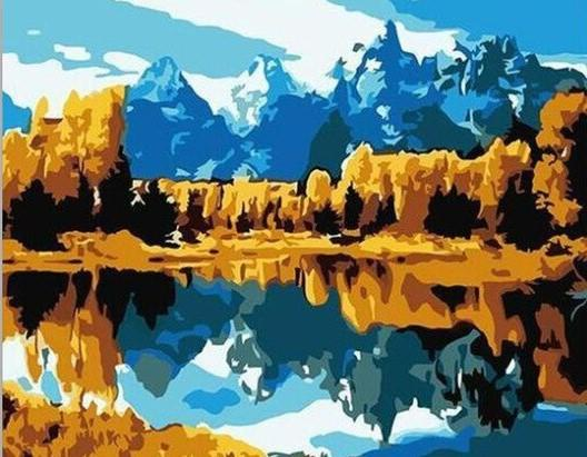 Grand Teton National Park paint by numbers