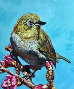 Green Bird paint by numbers