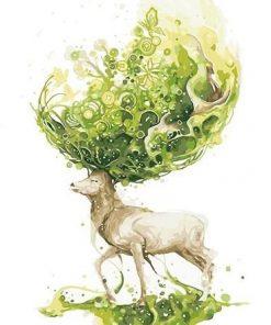 Green Deer paint by numbers