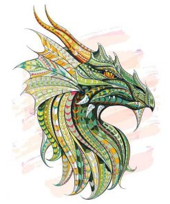 Green Dragon paint by numbers