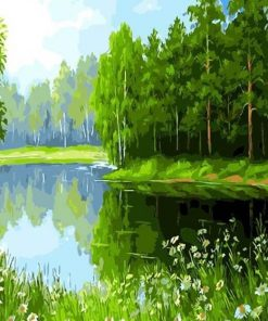 Green Forest paint by numbers