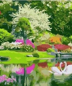 Green Garden paint by numbers