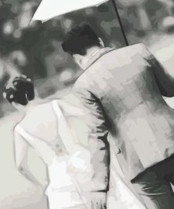 Greyscale Couple paint by numbers