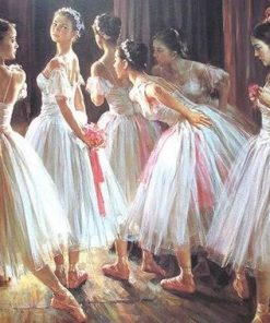 Group of Dancing Girls paint by numbers