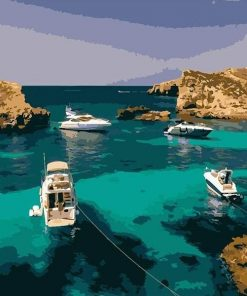 Gulf of Malta paint by numbers