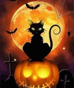Halloween Cat paint by numbers