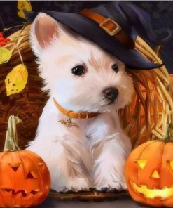 Halloween Dog paint by numbers