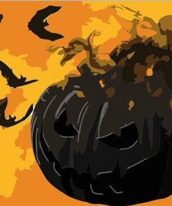 Halloween Pumpkin paint by numbers