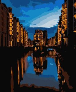 Hamburg In the Darkness paint by numbers