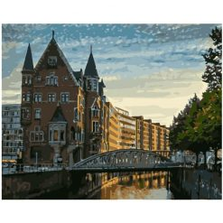 Hamburg River paint by numbers