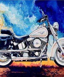 Harley Motorcycle paint by numbers
