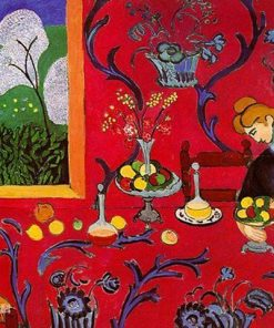 Harmony in Red By Henri Matisse paint by numbers